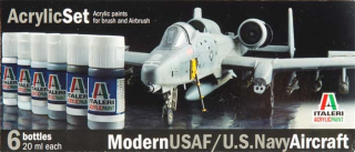 Acrylic Set: Modern USAF/U.S.Navy Aircraft; 6 x 20 ml