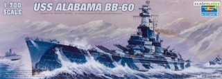 USS Alabama BB-60; 1:700