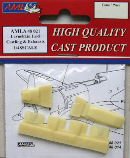 Lavochkin La-5/5F Cowling & Exhausts Conversion parts; 1:48