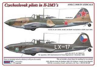 Dekály Czechoslovak pilots in Il-2M3´s; 2 ks; 1:32