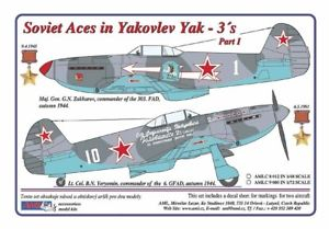 Dekály Soviet Aces in Yakovlev Yak-3´s Part I; 2ks; 1:48