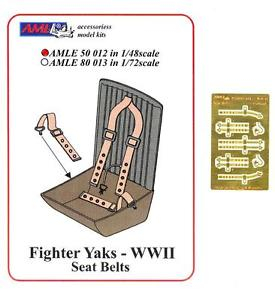 P-E diely Fighter Yaks - WWII Seat belts; 1:48