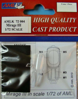 Detaily + Masky Mirage III C; canopy; 1:72