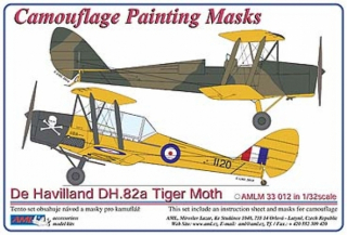 Masky De Havilland DH.82a Tiger Moth; 1:32