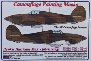 Masky Hawker Hurricane Mk.I - fabric wings; 1:48
