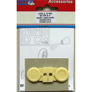 Bf 109 K-4 wheels + paint masks, conversion set; 1:32
