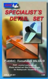 P-40B/C, Tomahawk Mk.IIA/B Conversion parts; 1:48