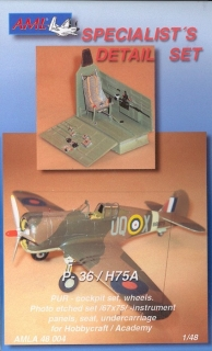 P-36/H75A-1,2,3,4,6 interior Conversion parts; 1:48