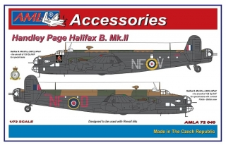 Handley Page Halifax B.Mk.II, resin set; 1:72