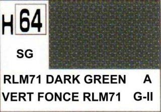 H64 RLM71 Dark Green Semigloss 10 ml