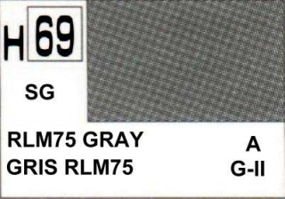 H69 RLM75 Grey Semigloss 10 ml