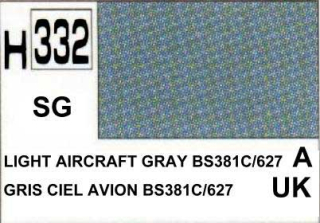 H332 Light Aircraft Grey BS381C/627 Semigloss 10 ml